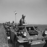 Convoy of Ferret Scout Cars.