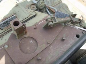 Ferret MK. I 54-82598 looking down onto the Browning MG base mount.