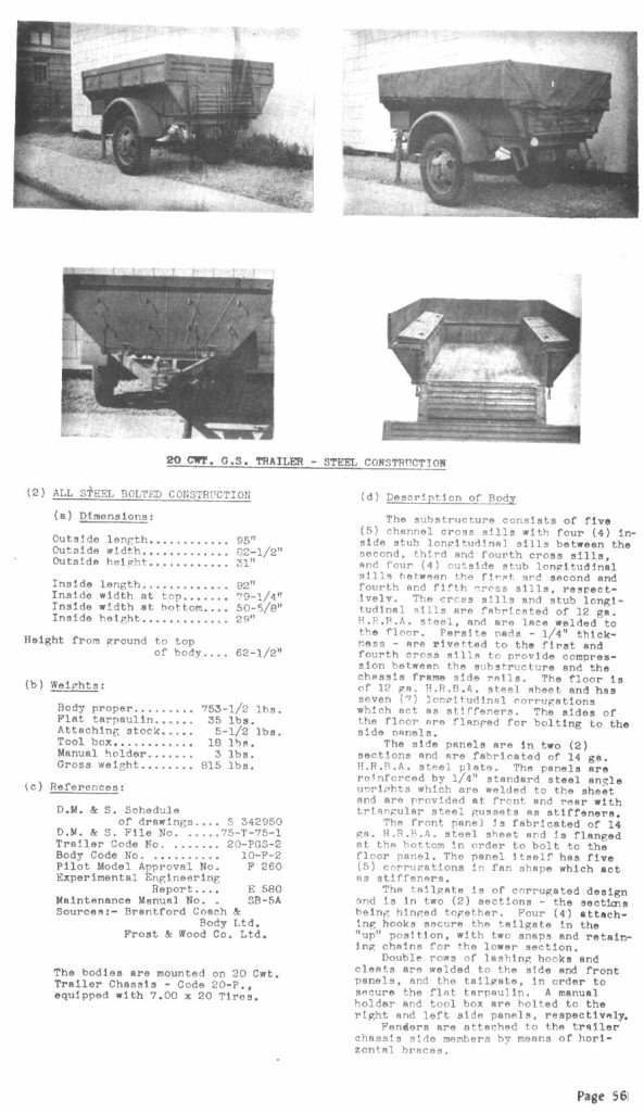 Trailer 20 Cwt steel AEDB V VII p 56