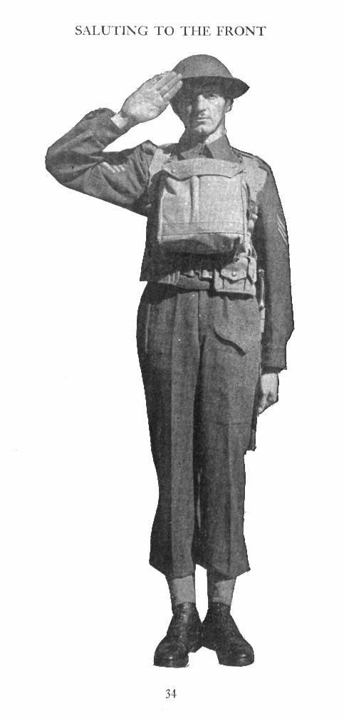 Training CATP 1 Saluting without arms 1942