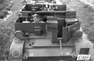 Universal Carrier Mark I shown in 1941 in Ontario, Canada.
