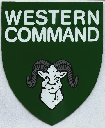 Western Command club decal