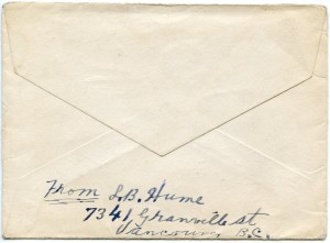 Envelope with the letters
