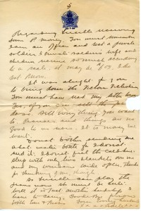 P5 undated letter. 1915-1916