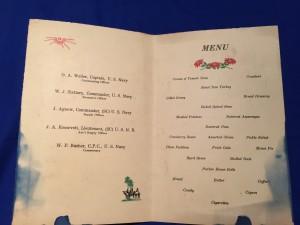 Wasp Xmas 1944 menu