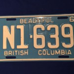 Licence plate Canadian military BC 1965 N1639