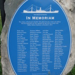 In Memoriam plaque with the cannon from the Mont Blanc Cannon from the Halifax Explosion 1917-12-06