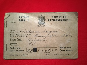 Ration Book 3  WWII Canadian