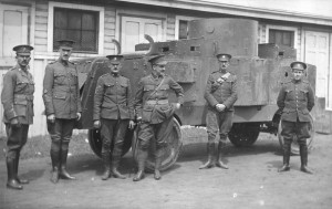 p77-4 Jimmy Mess (in centre) Eaton M G Battery (Jeffrey Quad Armoured Car)