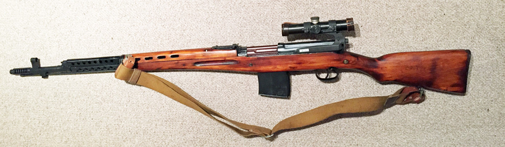 SVT-40 1941 SNIPER w 1941 scope SN -M257 left side