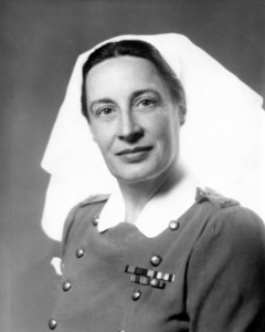 Major Eleanor ELY RCAMC circa 1945, Vancouver, BC, Canada. She was a Physiotherapist at the veterans' hospital there.