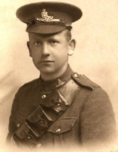 Harold Harty HEAKES circa 1917. McGill Siege Battery.