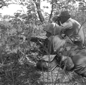 USMC sniper team with M1C 1 Marine Division in Korea (From 14-351 Milsurps )