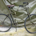 British Army BSA airborne bicycle, 2nd model, made circa 1943 serial number R37618 - ready for use with pedals are in the out position for use. Due to the fragile WAR GRADE tires I did not ride this one.