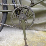 British Army BSA airborne bicycle, 2nd model, made circa 1943 serial number R37618 - BSA crank set - pedal is in the out position for use.