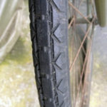 British Army BSA airborne bicycle, 2nd model, made circa 1943 serial number R37618 - A WAR GRADE tire tread.