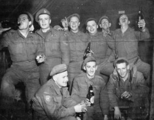 Canadian Sniping & Int Section of 2PPCLI in Korea drinking beerJan 1951 nr Miryong Korea - Harley Welsh MemoryProject
