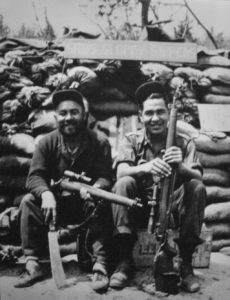Two PPCLI snipers in Korea. (PPCLI Museum)