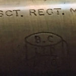 British Scout Regiment Telescope Mark II S. Detail of markings (upper portion)