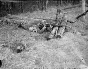 Sniper Brit training P14 scoped © IWM (ARMY TRAINING 2 slash 21)