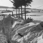 British 6th Airborne Division combat patrol. Providing covering fire if needed, Bren gunner on left and sniper on right