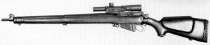 C anadian made sniper rifle, left side.
