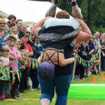 Scandinavian Midsummer Festival 2016-06-19 028 Wife carrying contest - Is my slip showing