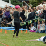 Scandinavian Midsummer Festival 2016-06-19 128 Wife Carrying Contest - What Second Place looks like.
