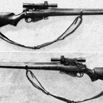 MK. I* (T) sniper rifle with Monte Carlo butt which has a rubber butt pad. No. 4 (T) British sniper rifle. WBSTTR - Shore 1948 fp 150 bottom