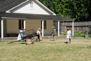 Fort Nisqually Brigade Days 2016 AUG (3) - Outside the Factor's House.