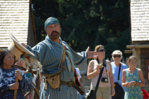"""Fort Nisqually Brigade Days 2016 AUG (61) """"Who wants to join us and become rich with beaver pelts?"""""""