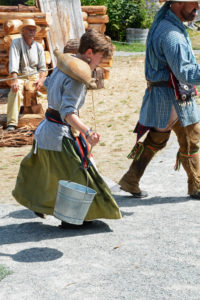 Fort Nisqually Brigade Days 2016 AUG (91) - Another contestant carrying water in the race.