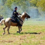 # 547 - Union Cavalry Sergeant on horseback races forward as part of a flanking harassment move.