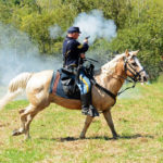 # 551 - Union Cavalry Sergeant on horseback harassing the Rebel troops.