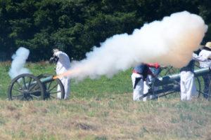 # 744 Small Union cannon firing.