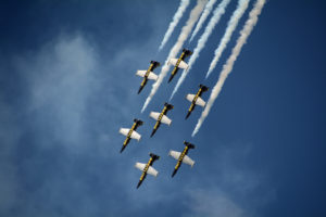 Breitling Aerobatic Team from Europe at the Hillsboro Air Show near Portland, Oregon in 2016.