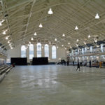 (6) The inside of the Seaforth Armoury shortly before the crowds arrived.