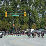 (9) The Seaforth Highlanders of Canada turning off of Cornwall Avenue onto Burrard Street.