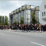 (16) The Regiment passes the Molson Brewery.
