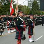 (35) The parade in front of the Seaforth Armoury.