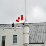 (46) Raising the Canada Flag signifying reoccupation of the Seaforth Armoury.