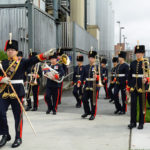 (56) 15th Field Regiment Brass and Reed Band moving to join the parade.