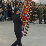 (119) Marching on the DND/CAF Eagle Staff.