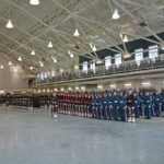 (124) Cadets and Seaforths on parade.