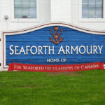 (276) Sign in front of the armoury.