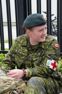 My cousin Annie Soncek who was a Medic covering the event.