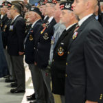 (286) Seaforth Association member on parade - centre rank.