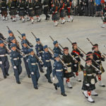 (336) Air Cadets marching with Lee-Enfield No. 4 MK.I* rifles at the slope.
