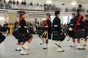 (386) Seaforth Army Cadet Drill Team during their performance.