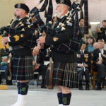 (459) Left is present Seaforth Pipe Major. On right is former Pipe Major.